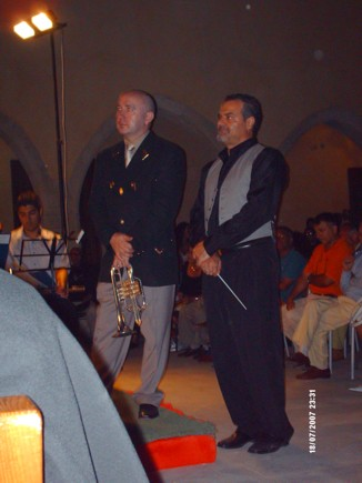 Roger Webster ed il M° Angelo De Paola
