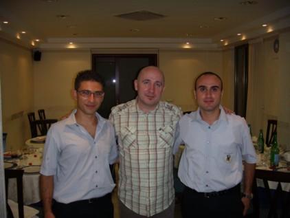 Roger Webster insieme al Presidente Enrico Morelli e al Vice Presidente Filippo Berardone